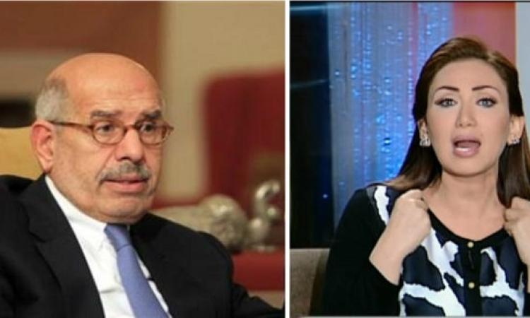 """بالفيديو .. ريهام سعيد للبرادعي : خليك في حالك .. """" إلهي تغرق """" !!"""