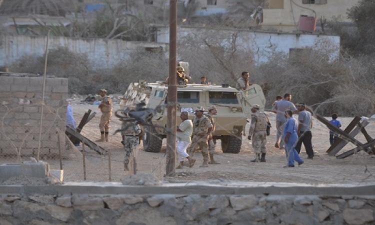 مقتل إرهابى والقبض على 6 مشتبه بهم فى حملات أمنية بشمال سيناء