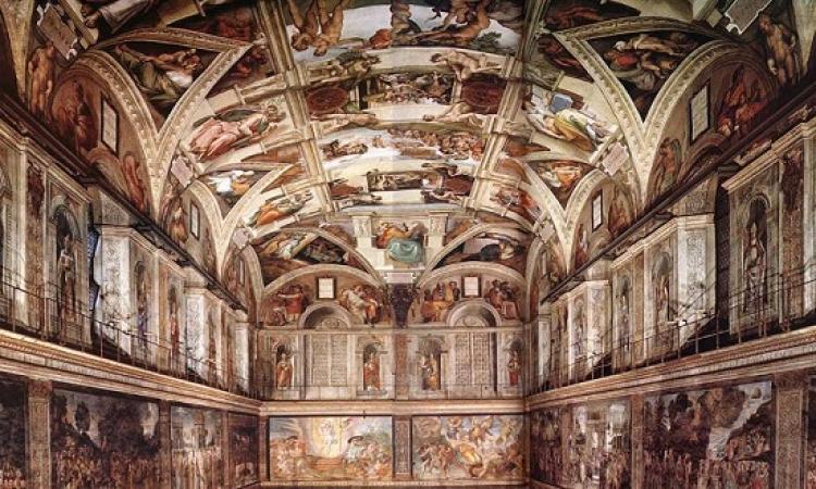 تجديد إضاءة لوحات مايكل انجلو فى الفاتيكان