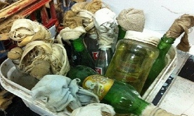 ضبط شاب بحوزته 8 زجاجات مولوتوف فى محطة مترو شبرا الخيمة