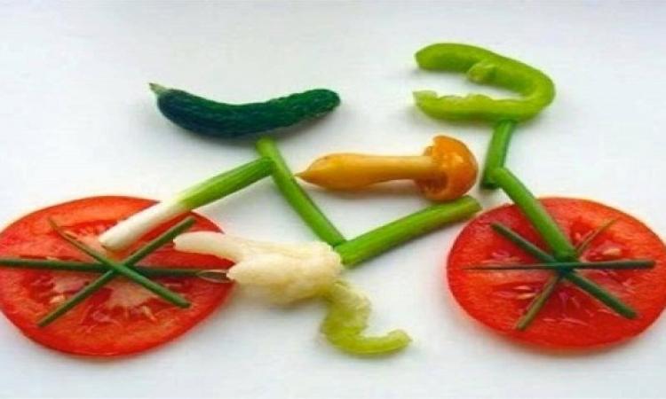 بالصور .. الخضروات على أشكال موتسيكلات