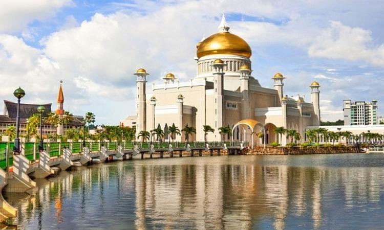 المسجد الذهبى فى بروناى .. عنوان الروعة والفخامة