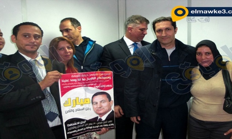 بالصور .. نجلي مبارك والعدلي ومساعديه بعد الحكم ببرائتهم فى قضية القرن
