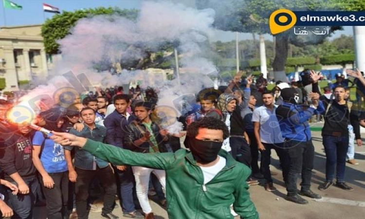 بالصور .. تظاهرات طلاب الإخوان بجامعة القاهرة