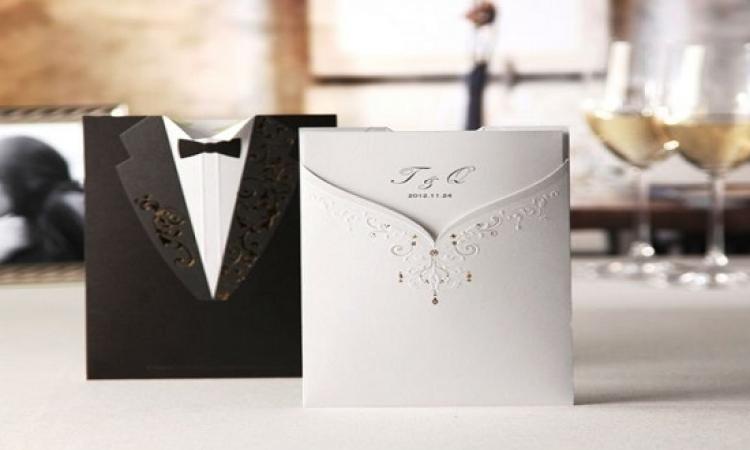 بالصور .. أحدث التصميمات لدعوات حفل الزفاف