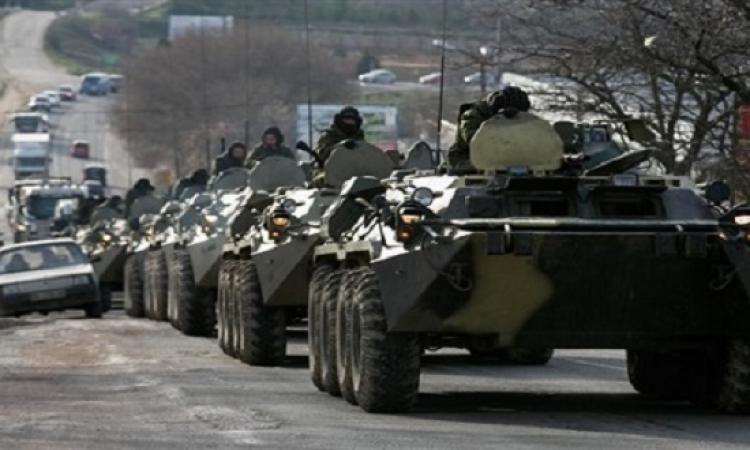 روسيا ترسل حشود عسكرية وأسلحة معقدة لشرق أوكرانيا