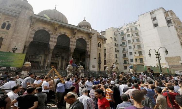 قوات الأمن تحبط مظاهرات الإرهابية من مسجد الفتح برمسيس