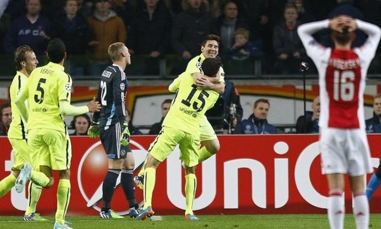ميسي يقود برشلونة إلى دور الـ 16 للتشامبيونز ليج ويحطم رقم راؤول