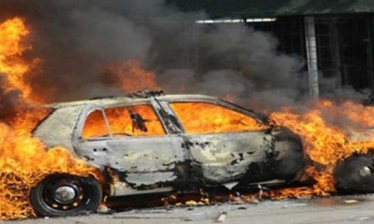 انفجار سيارة مفخخة بجوار محطة قطارات كفر الشيخ