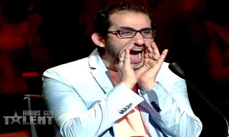 """بالفيديو .. أحمد حلمي بالمرصاد لمتسابقي الموسم الرابع من """"Arabs Got Talent"""""""
