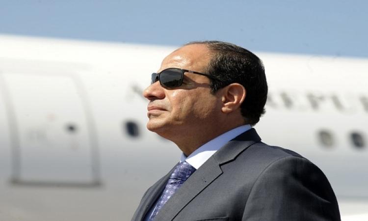 السيسى يعود للقاهرة بعد انهاء زيارته الرسمة للكويت