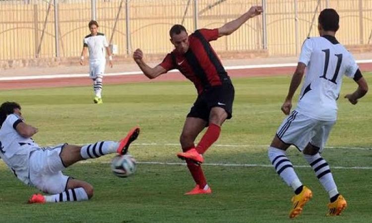 """""""خناقة بالأيدى"""" بين لاعبى المصرى وحرس الحدود"""