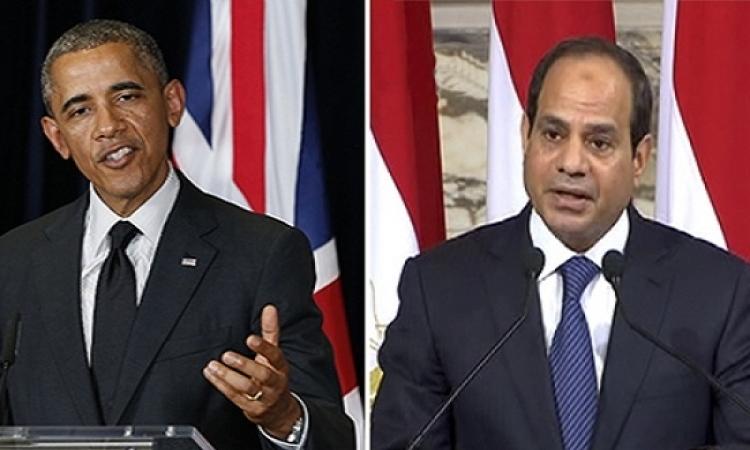 أوباما في اتصال مع السيسى : دور مصر في مكافحة الإرهاب محورى