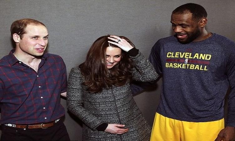 كيف أحرج لاعب كرة السلة ليبرون جيمس كيت ميدلتون أمام زوجها ؟!