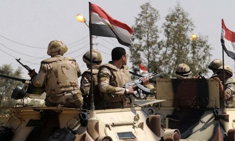 القوات المسلحة تحبط عملية إرهابية شمال سيناء