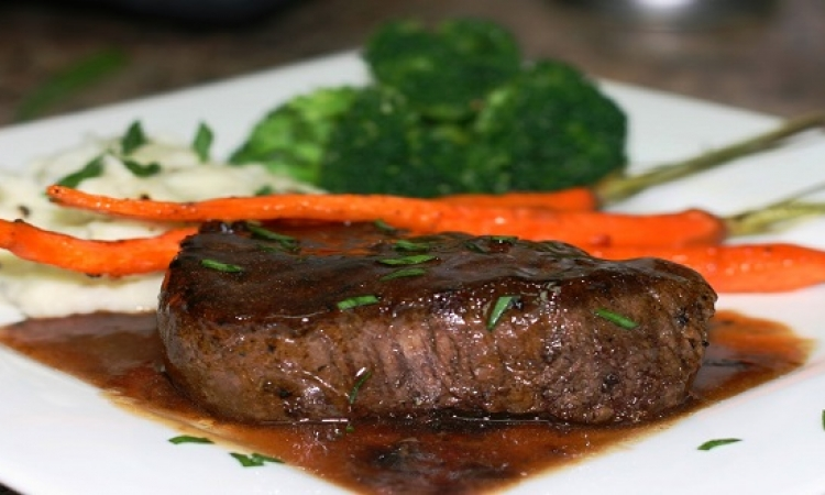 طبق اليوم ..  فيليه اللحم بصلصة الصويا