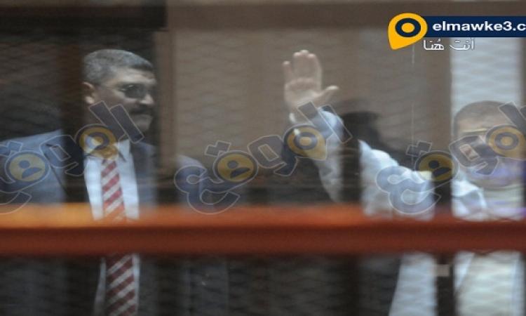 """بالصور .. تأجيل محاكمة مرسى وقيادات الاخوان بـ """"أحداث الاتحادية"""" لـ 5 يناير"""