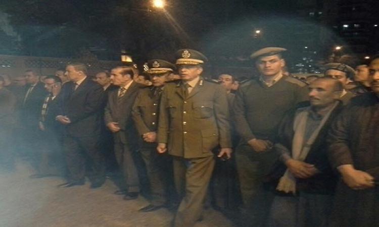بالصور.. تشييع جثمان شهيد الشرطة بشمال سيناء في جنازة عسكرية بمسقط رأسه بطنطا