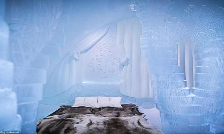 الراحة الباردة .. فندق الجليد في السويد عالم من الخيال!!