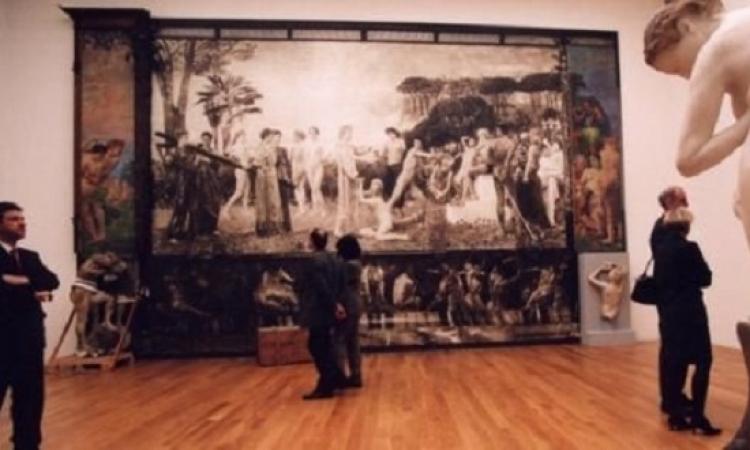 لوحه فنيه توضع فى متحف الفنون الجميله بالمانيا على ارتفاع 17 متر