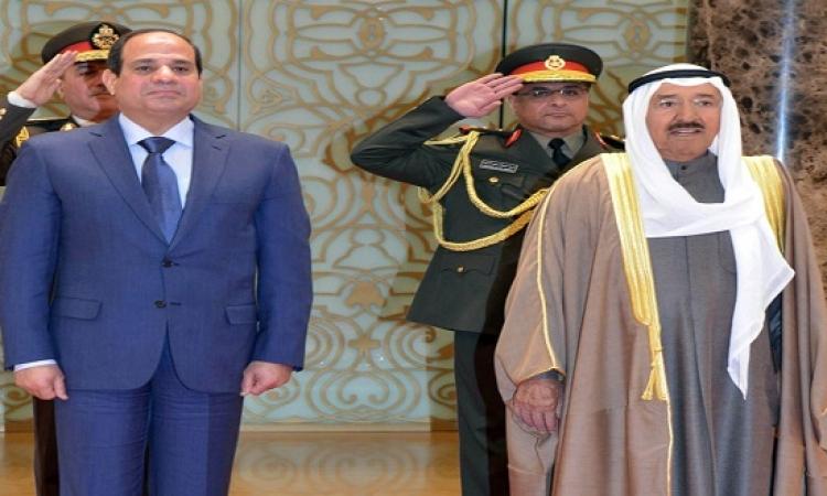 السيسيى يطمئن المستثمرين الكويتيين على استقرار الأوضاع فى مصر