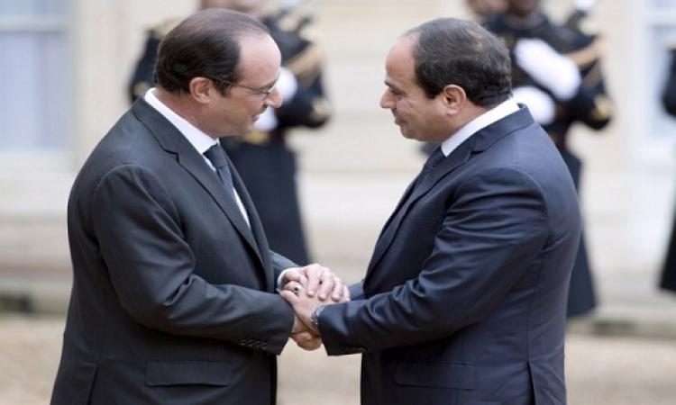 السيسي يؤكد لهولاند إدانة مصر لهجمات فرنسا ويطالب بتضافر الجهود الدولية لمكافحة الإرهاب