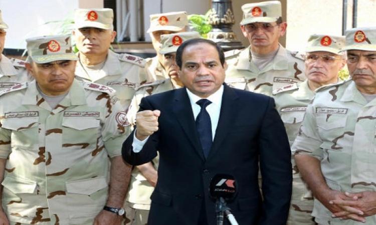 الرئيس السيسى يزور مصابى أحداث سيناء بمجمع الجلاء الطبى