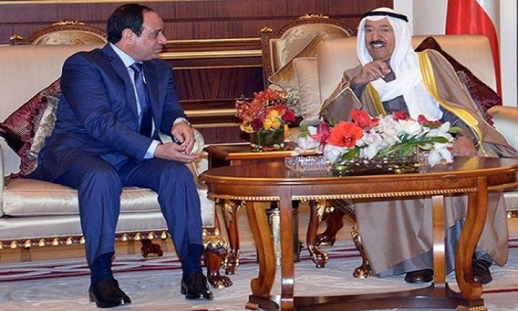 بالصور .. قمة مصرية – كويتية بعد استقبال حافل للرئيس السيسى بمطار الكويت