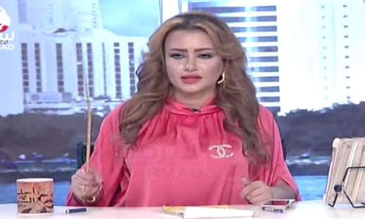 """بالفيديو .. الكويتية عيدان تسخر من نادية الجندى : هتعلمكم """" الـ .. """" ووقف البرنامج بسبب ألفاظها الخارجة !!"""