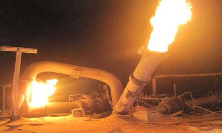 السيطرة على حريق انفجار خط غاز منشية دهشور بالبدرشين