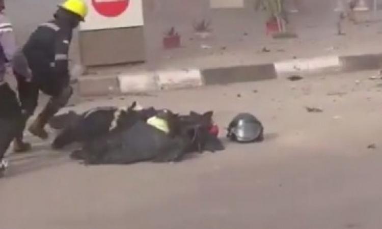 بالفيديو .. لحظة انفجار قنبلة قسم الطالبية بالهرم واستشهاد خبير المفرقعات