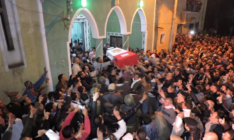 تشييع جثامين شهداء العريش فى كفر الشيخ