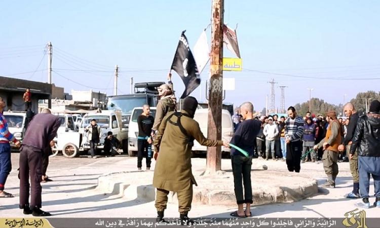 بالصور .. داعش تنفذ حد الزنا على 6 أشخاص
