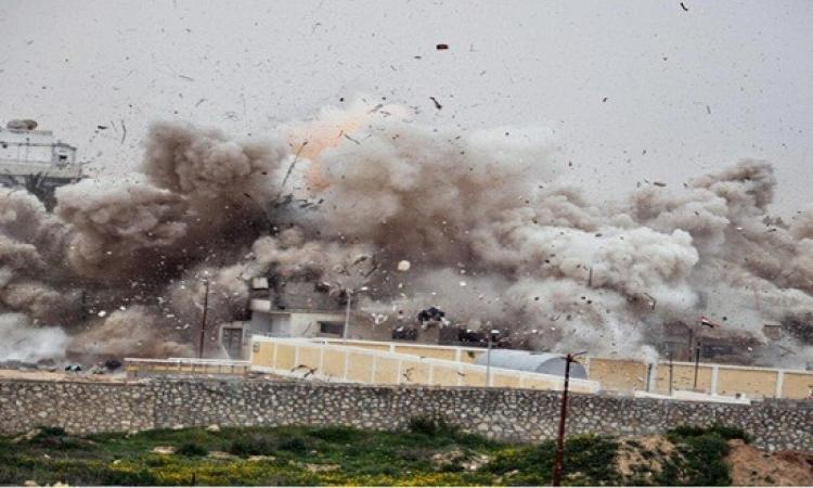 شهود عيان: وقوع انفجار هائل فى مدينة رفح بشمال سيناء