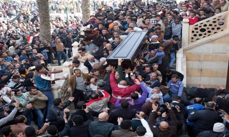 بالفيديو .. مراسم تشيع جثمان سيدة الشاشة العربية