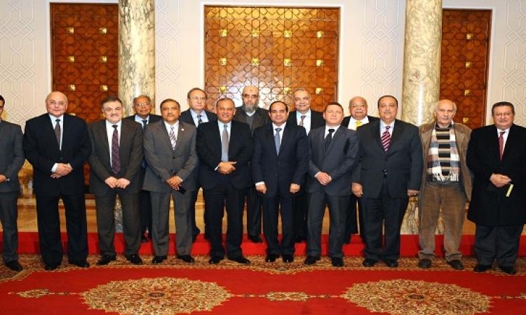السيسى يستكمل لقاء رؤساء الأحزاب والقوى السياسية بالاتحادية اليوم