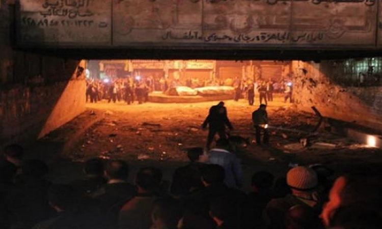 بالصور… تصدع كوبرى الممر وتوقف حركة القطارات بسبب انفجارين فى الزقازيق