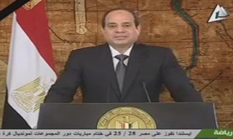 بالفيديو .. السيسى فى كلمته بمناسبة 25 يناير : الثورة تحتم علينا تغيير أنفسنا