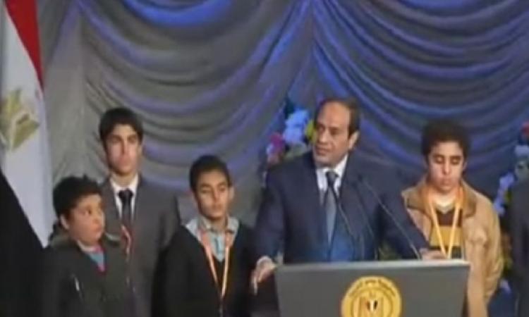 السيسى خلال احتفال عيد الشرطة : لن نسمح لأحد برفع السلاح فى وجه مصر