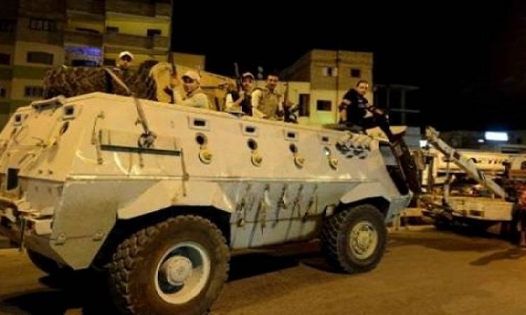 قوات الأمن تمشط محيط شوارع المطرية بـ 4 مدرعات أمنية