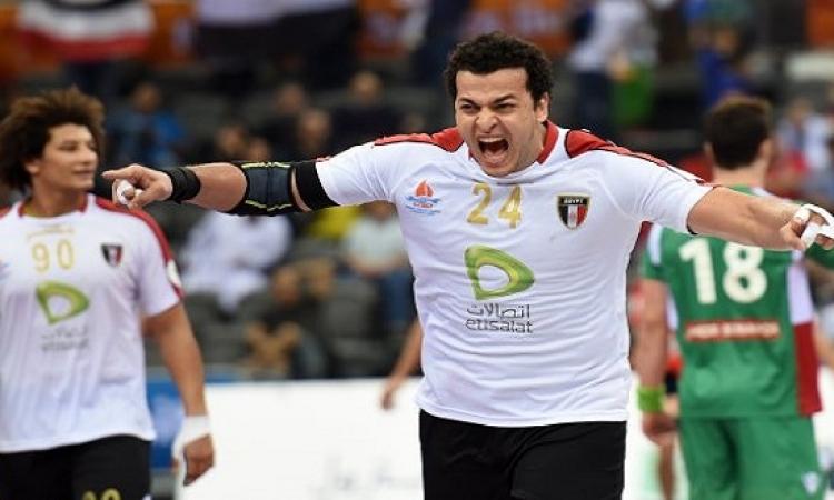 منتخب مصر لليد يقترب من التأهل الى الدور الثانى بكأس العالم بقطر