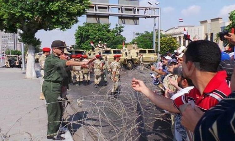 إغلاق شارع الخليفة المأمون أمام وزارة الدفاع تحسبا لتظاهرات الإخوان