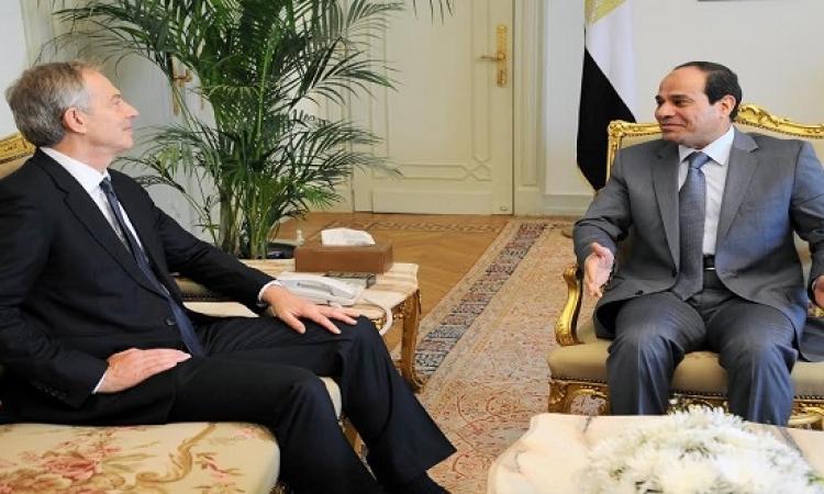 تونى بلير: الحوادث الأخيرة فى فرنسا أثبتت صواب تقديرات السيسى بشأن الإرهاب