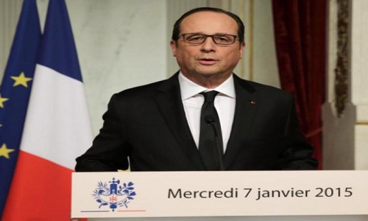 هولاند: فرنسا ستكثف عملياتها فى العراق