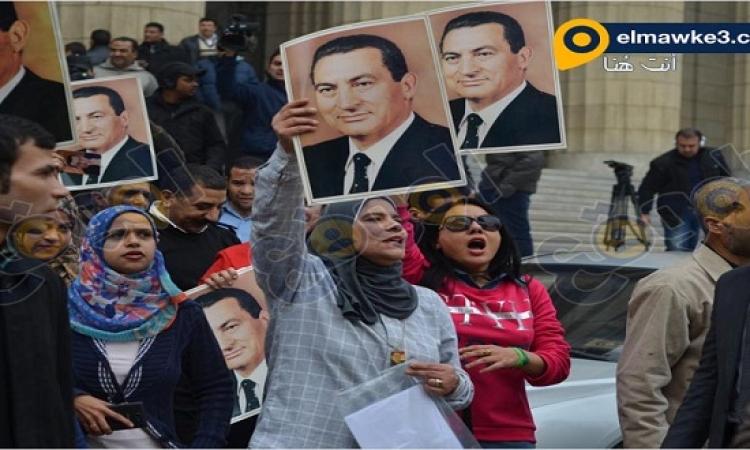 بالصور .. أنصار مبارك فى قاعة المحكمة فى قضية قصور الرئاسة