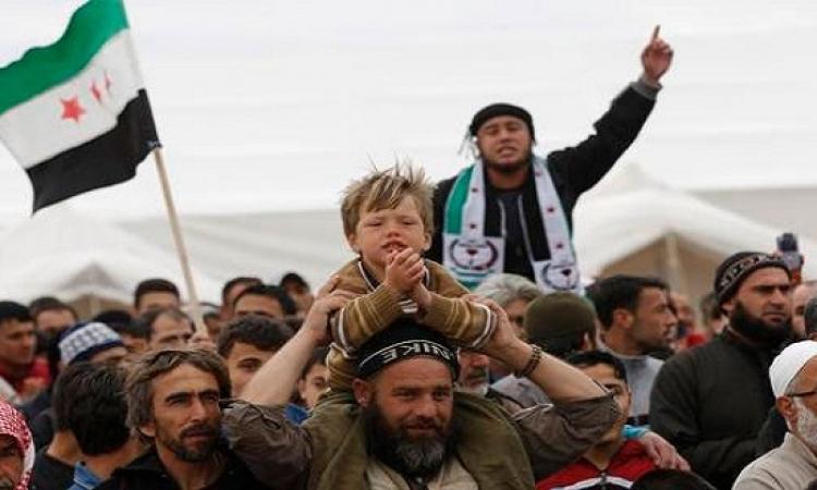مظاهرات السوريين فى حمص وإدلب تندد بالرسوم المسيئة للرسول