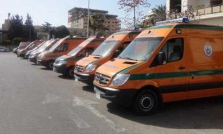 الشئون الصحية بالقليوبية تدفع بـسيارات الإسعاف للتعامل مع حريق مصنع قليوب