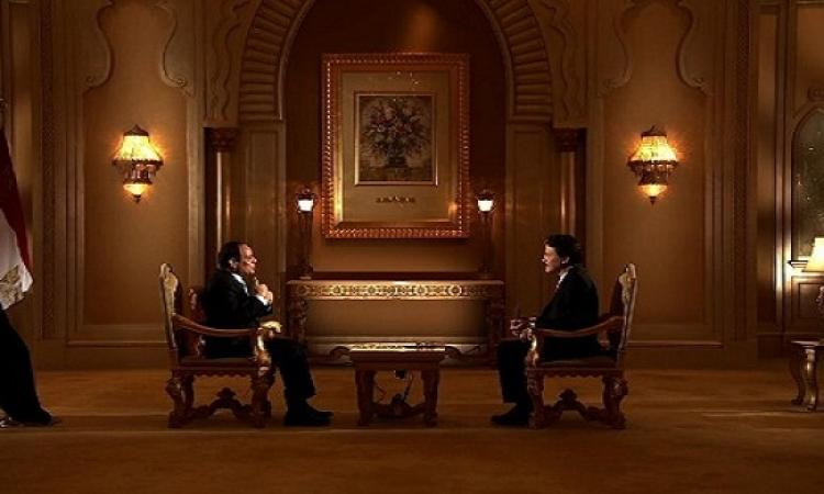 """بالفيديو.. السيسى لـ""""سكاى نيوز عربية"""": لا لقاءات مرتقبة مع أمير قطر وليس لدينا معتقلون سياسيون"""