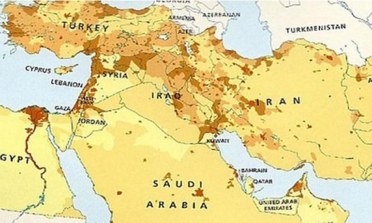 أطلس الشرق الأوسط لا يعترف بوجود إسرائيل