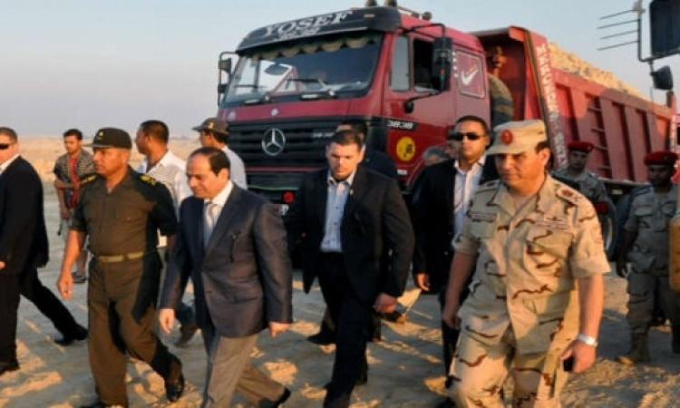 السيسى يصل الإسماعيلية لزيارة مشروع قناة السويس الجديدة